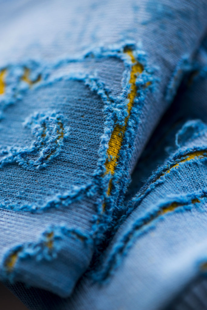 Detail of knitwear designed by Meidea for Intelligence Knits Jeanologia's collection