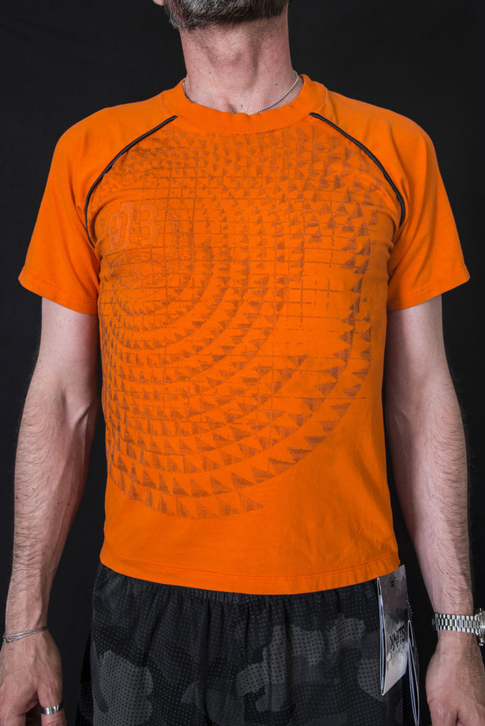 Men t-shirt Knitwear design. Outfits designed by Meidea for Intelligence Knits Jeanologia's collection