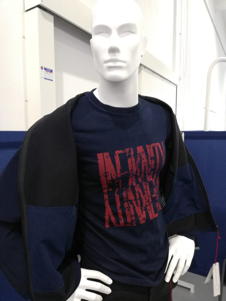 Infiknity indigo knitwear prototypes Arvind