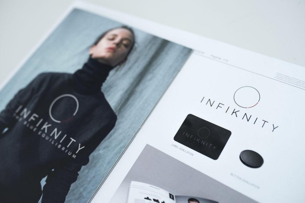 Infiknity indigo knitwear presentato al King Pins 2019 per Arvind