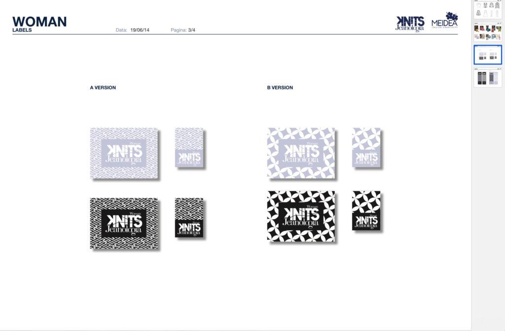 Labels by Meidea for women knits Jeanologia