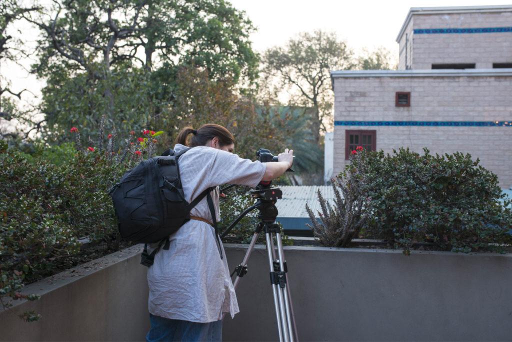 Eleonora De Martin durante il servizio fotografico per Crescent Bahuman Limited