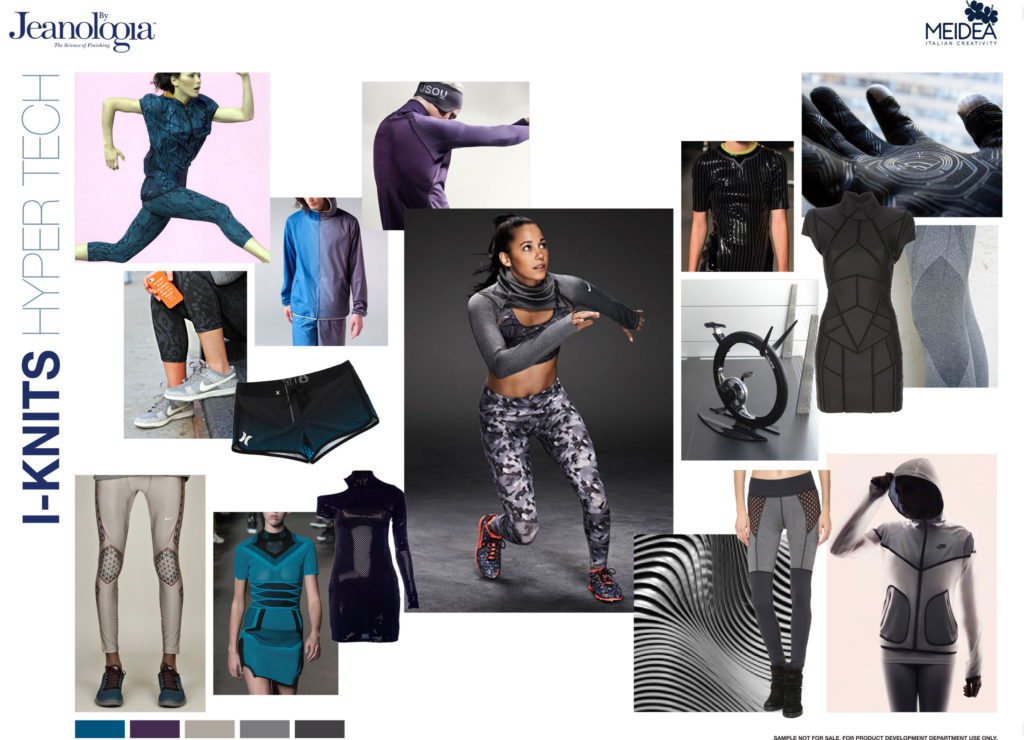 Mood boards for Intelligence Knits Jeanologia's collection