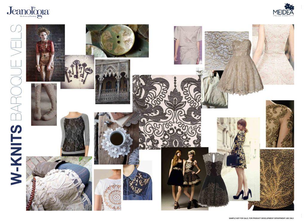 Stili e grafica. Moodboard Meidea per knitwear design Jeanologia