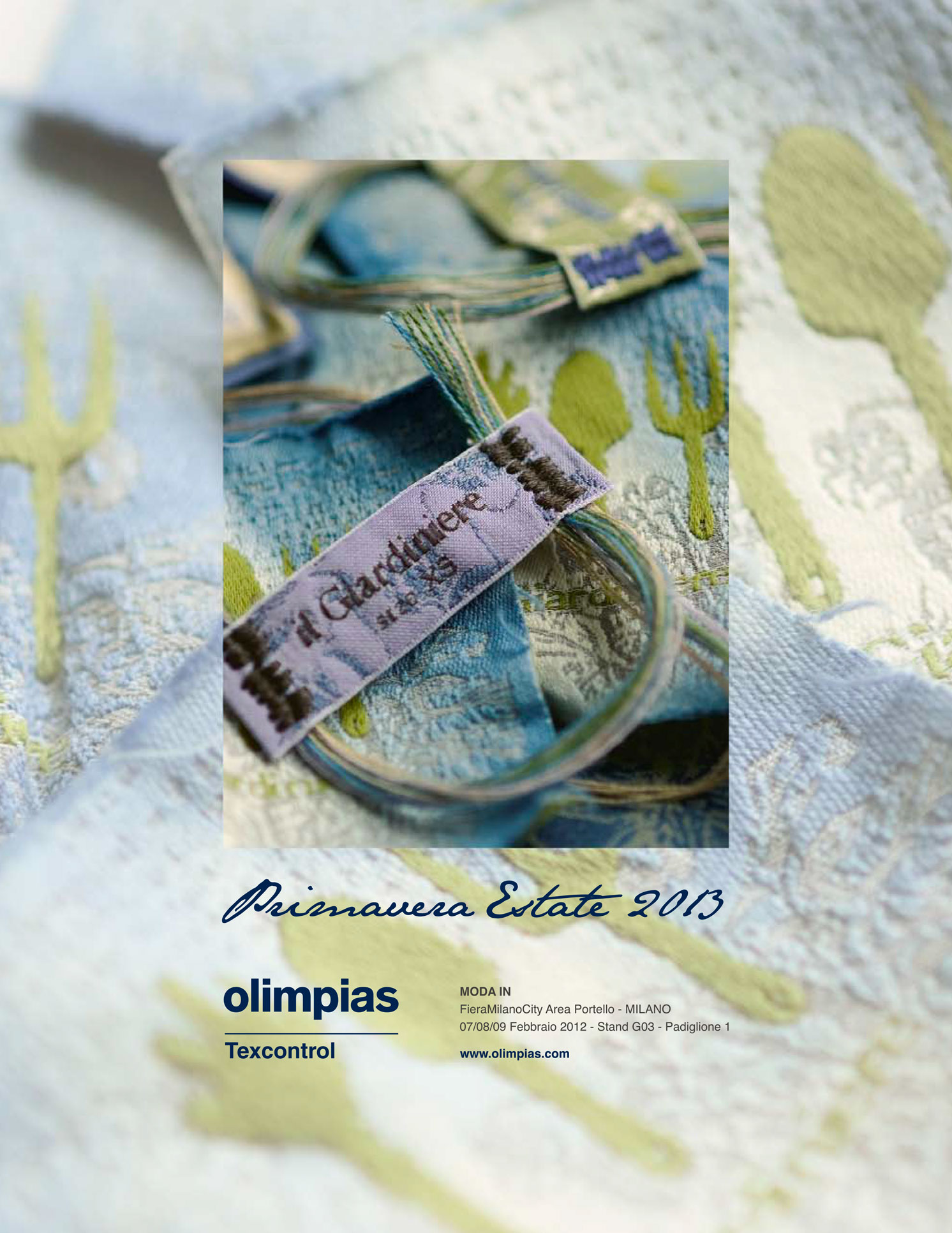 Advertising for Olimpias Spring Summer 2013. Still life photography of the labels, photo editing, layout, executive file for print.