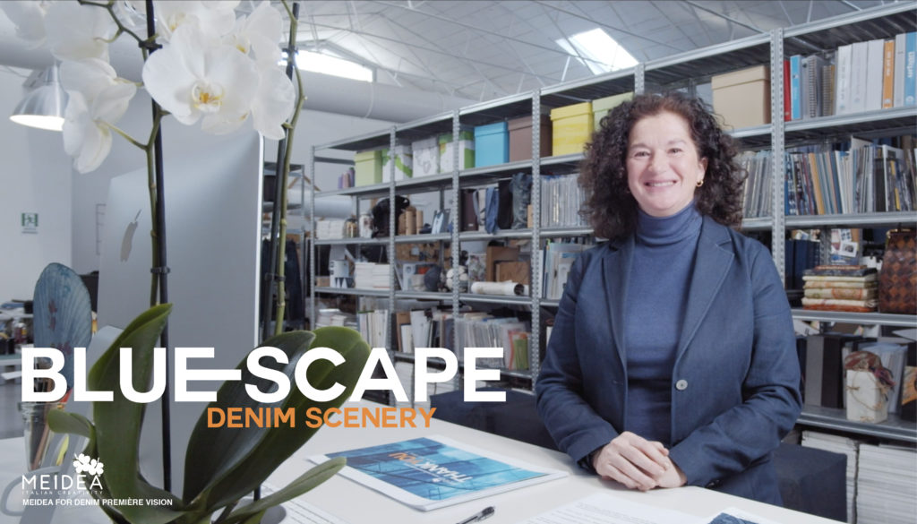 Blue-scape trend seminar: Lucia in the Atelier during the video recording