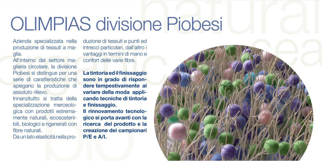 Sustainable yarn project by Meidea for Piombesi Olimpias