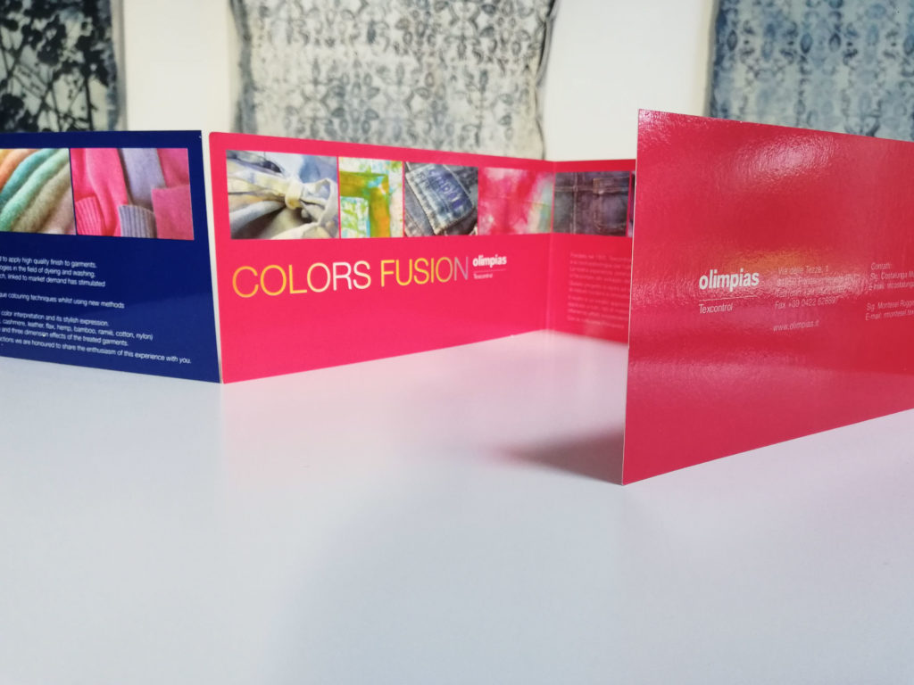 Colors Fusion flyers: dyeing innovations for Olimpias